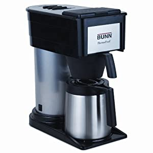 Bunn BTX-B ThermoFresh 10-Cup Commercial-Style Coffee Brewer, Black