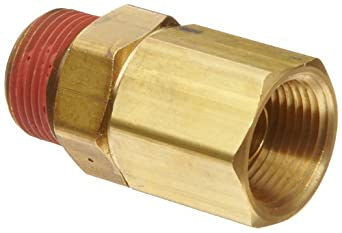 Control Devices Brass Load Genie Unloading Check Valve, NPT Female x NPT Male