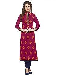 Sheknows Women's cotton kurti(PTHKR4811MON_4_L_Pink)