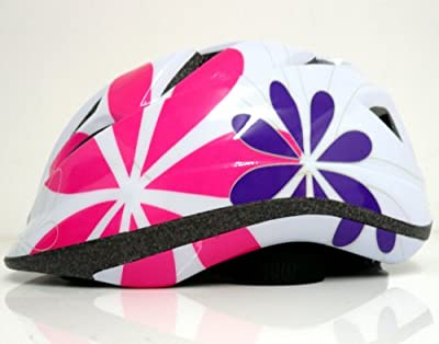 Raleigh Girl's Rogue Flowers Cycle Helmet - White, 52-57 cm from Raleigh