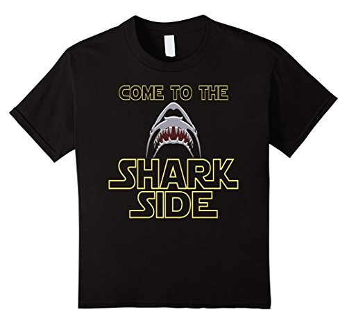 Kids Great White Shark Shirt For Shark Lovers T-Shirt 10 Black