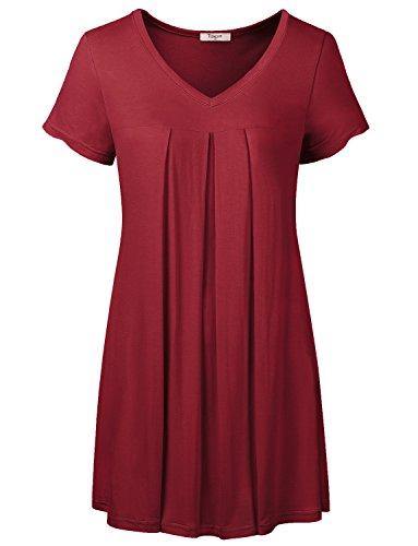 Plus Size Short Sleeve Shirts For Women Timeson Womens V