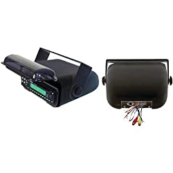 See Pyle Universal Marine Stereo Housing With Full Wired Casing (Black)