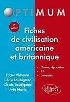 Fiches de Civilisation Américaine & Britannique