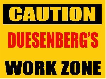 6-caution-duesenberg-work-zone-vinyl-decal-bumper-sticker