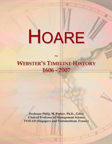 Hoare: Webster's Timeline History, 1606 - 2007