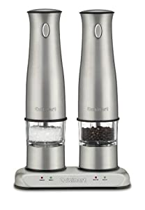 Cuisinart SP-2 Stainless Steel Rechargeable Salt and Pepper Mills by Cuisinart