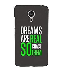 Life Quote 3D Hard Polycarbonate Designer Back Case Cover for Meizu MX5