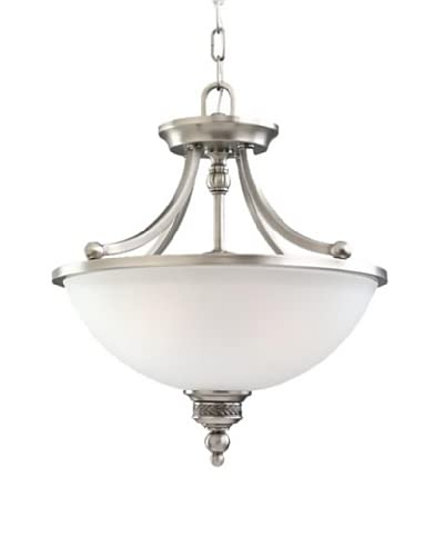 Sea Gull Lighting 2-Light Laurel Leaf Semi-Flush Convertible Fixture  [Antique Brushed Nickel]