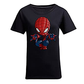 Design Your T-shirt --New Style Spider-Man T-shirt Cartoon T-shirt for Women