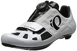 Pearl Izumi Men\'s Elite RD IV W/B Cycling Shoe, White/Black, 40.5 EU/7.3 C US