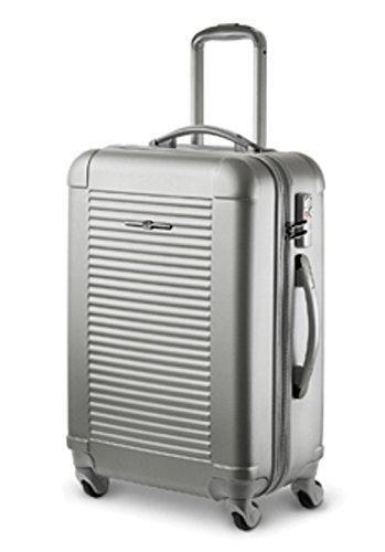 Valigetta-Trolley-XL-76cm, Custodia rigida, TSA, colore: argento, garanzia: 2J.