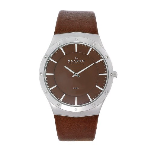 Skagen Men&#8217;s 509XXLSLD Sports Casual in Steel &#038; Leather Watch