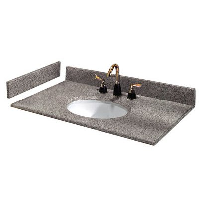 Pegasus PE31603 31-Inch Napoli Granite Vanity Top with White Bowl and 8-Inch Spread