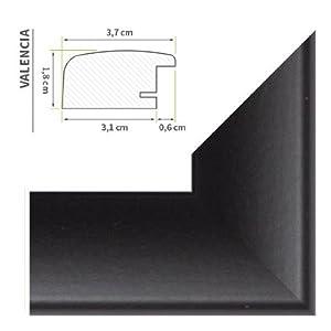 """Bilderrahmen Schwarz (matt) (""""Valencia"""") 40X120cm (Antireflex*)"""