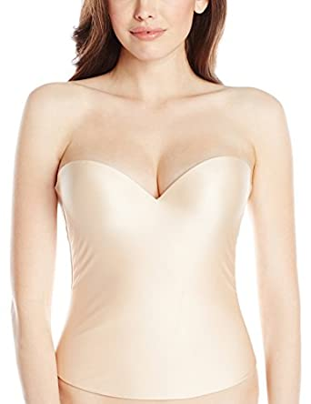 Felina Women's Essentials Seamless Pad Hidden Wire Bustier, Bare, 32A