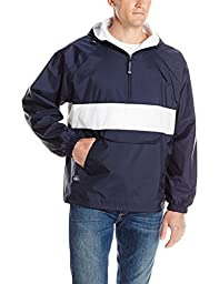 Charles River Apparel Men's Classic Striped Pullover, Navy/White, Small