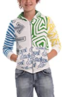 Desigual - foa - sweat-shirt à capuche - garçon