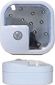 """ADX Wireless Motion Sensor LED Light, Security or Night Light (Size: 3"""" x 3""""), 2-Pack"""