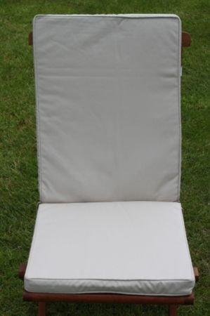 UK-Gardens Creme Beige Garten Möbel Sitz und stuhl Polsterung - Wechselbarer Bezug - Haus oder Garten