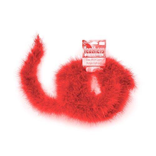 Darice Girl's Feather Marabou Boa Red