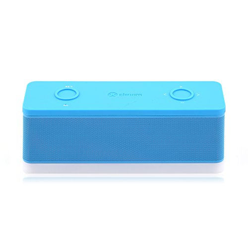 Dexim® Soundex Magicbox Portable Speaker With Wireless Bluetooth, Rechargeable Li-Ion Battery And Built-In Mic (Blue) Dea059-L - Better Sound, Better Volume, Incredible Online Price - The Perfect Speaker To Take Everywhere With You This Summer