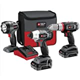 PORTER-CABLE PCL318IDC-2 18-Volt Lithium-Ion Cordless 3-Piece Combo Kit