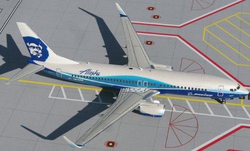 1: 200 ジェミニジェット Alaska 航空 ボーイング 737-800W ボーイング Dreamliner Colors, with Winglets (並行輸入)