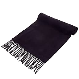 GF Pro Ultra Soft Luxurious Cashmere Winter Scarf for Men & Women (BlackScarf)