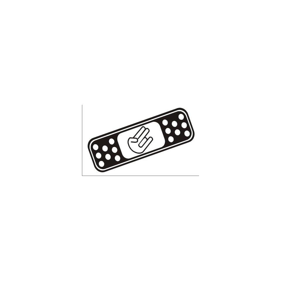 Band Aid Shocker decal sticker jdm import civic honda acura nissan mitsubishi toyota integra prelude accord crx hatchback si altima 350z 240sx drifting, Black