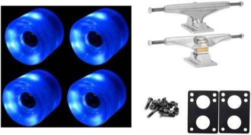 60Mm Blue Led Wheels Night Light Skateboard 169Mm Trucks Combo
