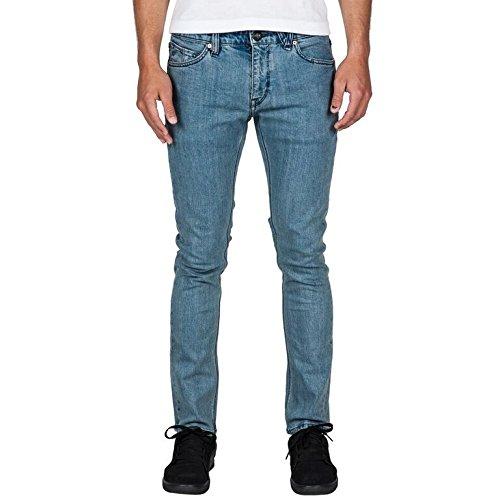 Volcom 2 x 4-Denim Jeans da uomo, Blu, Taglia 33/34