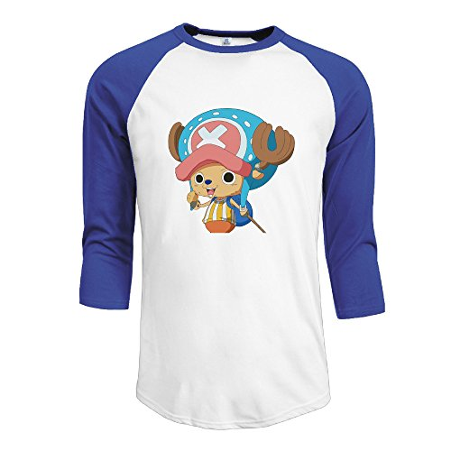 Men's Cotton Organic Cotton 3/4 Sleeve One Piece Tony Tony Chopper Time Skip Athletic Baseball Raglan Sleeves T-Shirt RoyalBlue US Size XL (Vikings Season 1 Episode 4 compare prices)