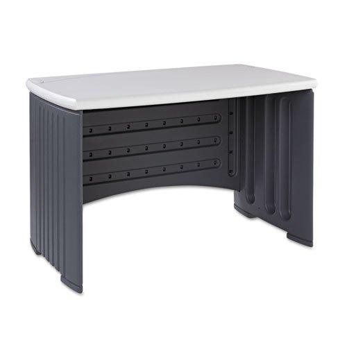"Iceberg - Snapease 46"" Computer Desk, Resin, 46W X 28D, Charcoal/Silver 73002 (Dmi Ea"