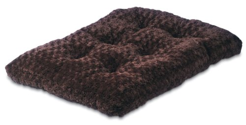 Petmate Plush Kennel Mat, Large (35 By 22 Inches), Espresso front-53214