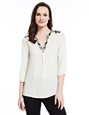 M&S Collection Boho Embroidered Blouse