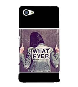 What Ever 3D Hard Polycarbonate Designer Back Case Cover for Sony Xperia Z5 Compact :: Sony Xperia Z5 Mini