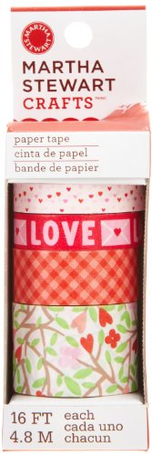 Martha Stewart Crafts Hearts and Flowers Paper Tape