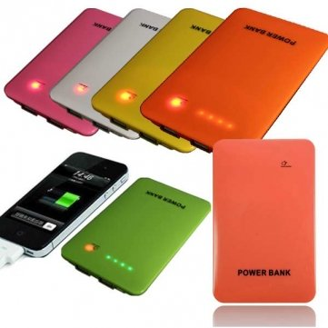 Bheema 10000Mah Dual Usb Led Power Bank Battery For Tablet Cellphone - Golden