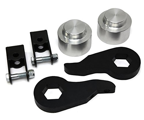 2000 - 2006 Chevy Tahoe Lift Kit 4WD Adjustable 1 to 3 Inch Front 3 Inch Rear BIG BRAWNS Torsion Bar Lift Keys Aircraft Billet Spring Spacers and Shock Extenders (04 Chevy Z71 Lift Kit compare prices)