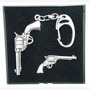 pewter-key-ring-badge-gift-sets-colt-45-pistol