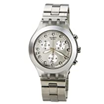 Swatch Diaphane Chronograph Blooded Silver Mens Watch SVCK4038G