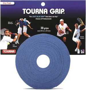 Tourna Tennis Racquet Over Grip-30 Overgrips-Absorbent Dry FeelTournagrip-Blue