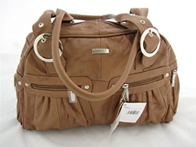 ladies tan leather shoulder bag handbag