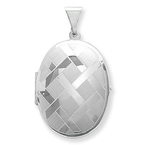 Sterling Silver Large Engraved Oval Locket On A 16 Inch Snake Necklace