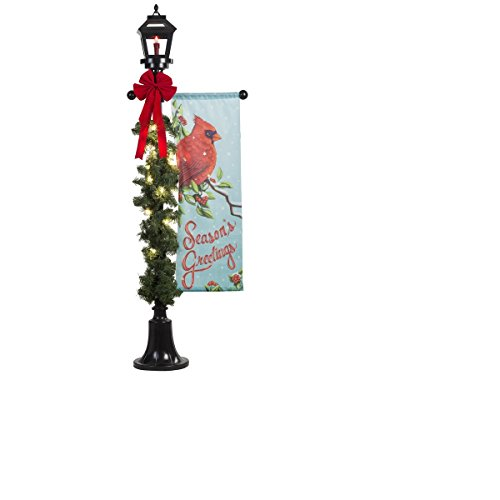 6 ft holiday lighted lamp post outdoor christmas for Christmas decorations for outside lamp post