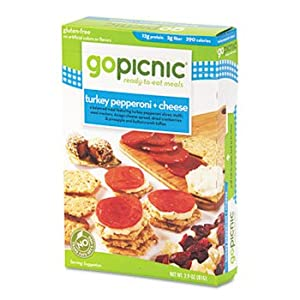 Ready-To-Eat-Meals, Turkey Pepperoni + Cheese, 3 oz, 6 per Carton by GoPicnic.... by GoPicnic