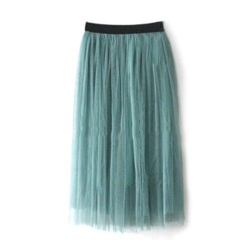 High Waist Georgette Skirt, Below Knee-Length Full Skirt, Summer Tulle Full Skirt