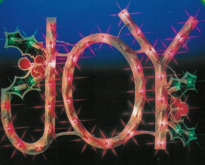 "18″ Lighted ""JOY"" Window or Yard Christmas Window"