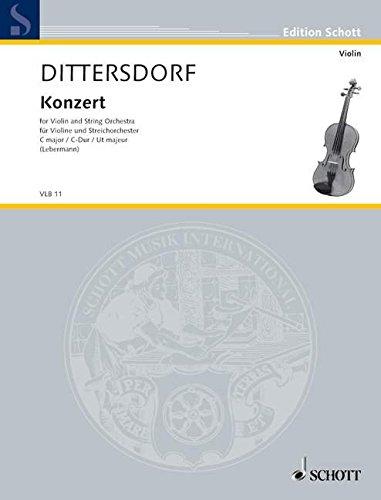 Konzert-C-Dur-Nr-10-Krebs-157-Violine-und-Streichorchester-Klavierauszug-mit-Solostimme-Edition-Schott
